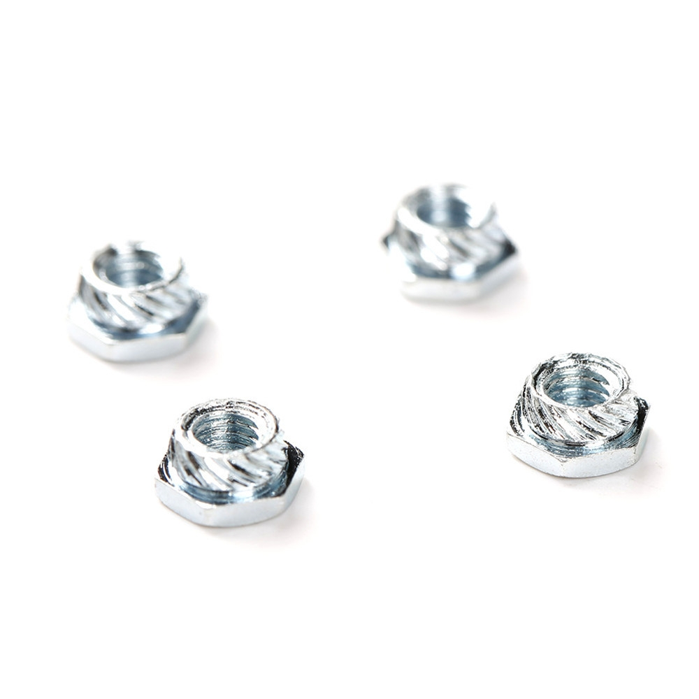 20 PCS M3 Hexagonal Rivet Nut Carbon Steel Silver for FPV Racing RC Drone