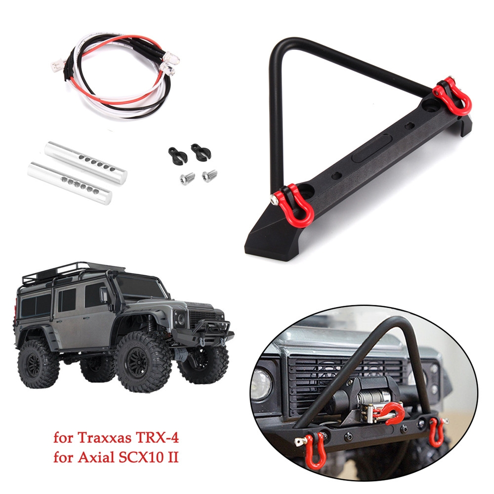 Alloy Front Mounted Bumper w/ LED Light for Traxxas TRX-4