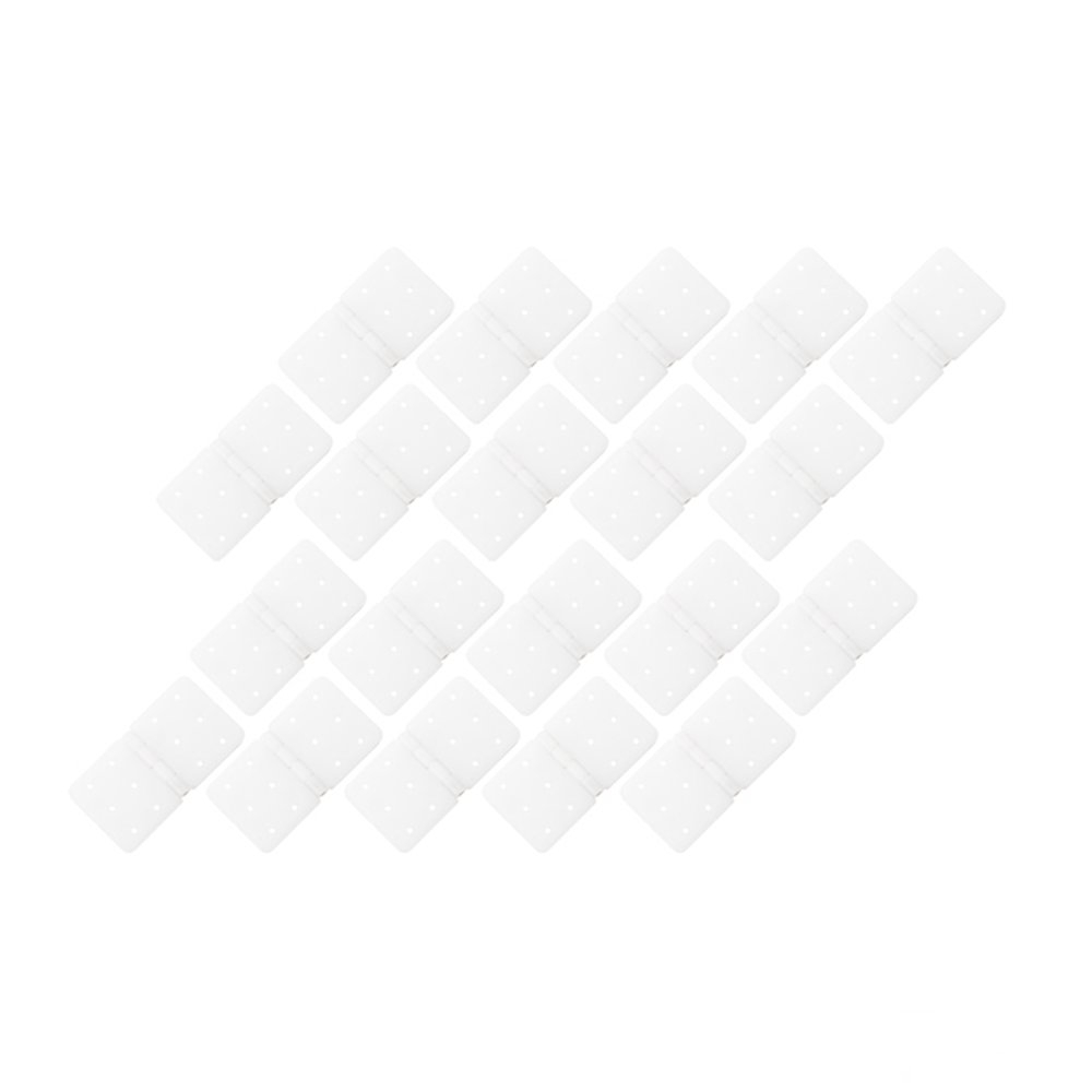 20PCS RJXHOBBY 20x37mm Small Pinned Nylon Hinge Replacement Parts For RC Airplane