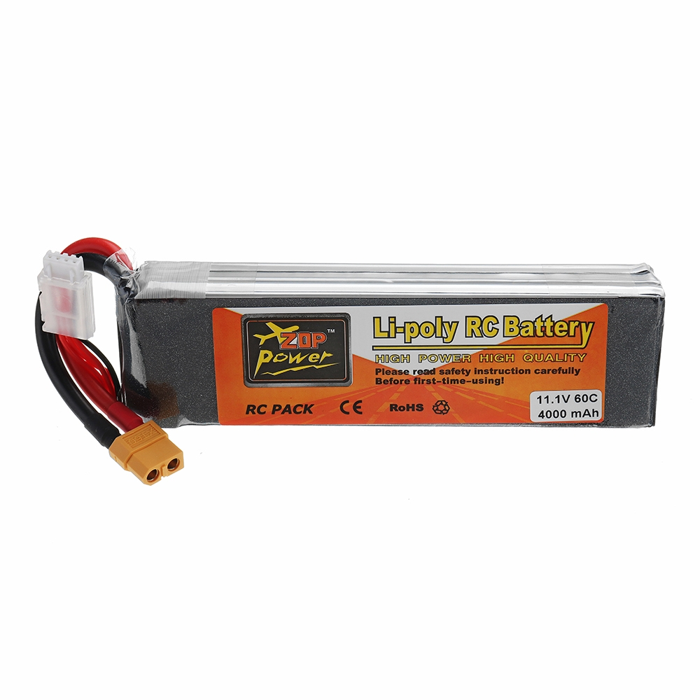 ZOP POWER 11.1V 4000mAh 60C 3S Lipo Battery With XT60 Plug For RC Models