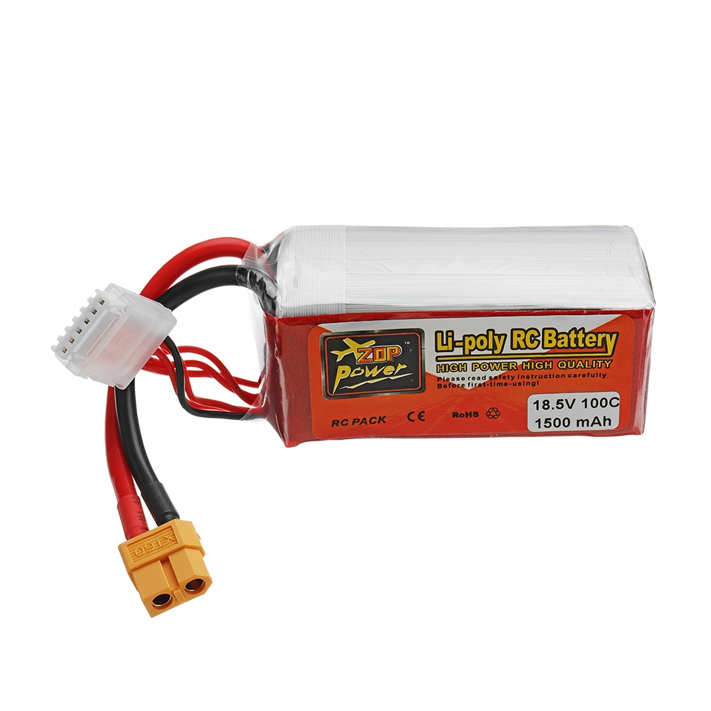ZOP POWER 18.5V 1500mAH 100C 5S Lipo Battery With XT60 Plug For FPV Racing Drone