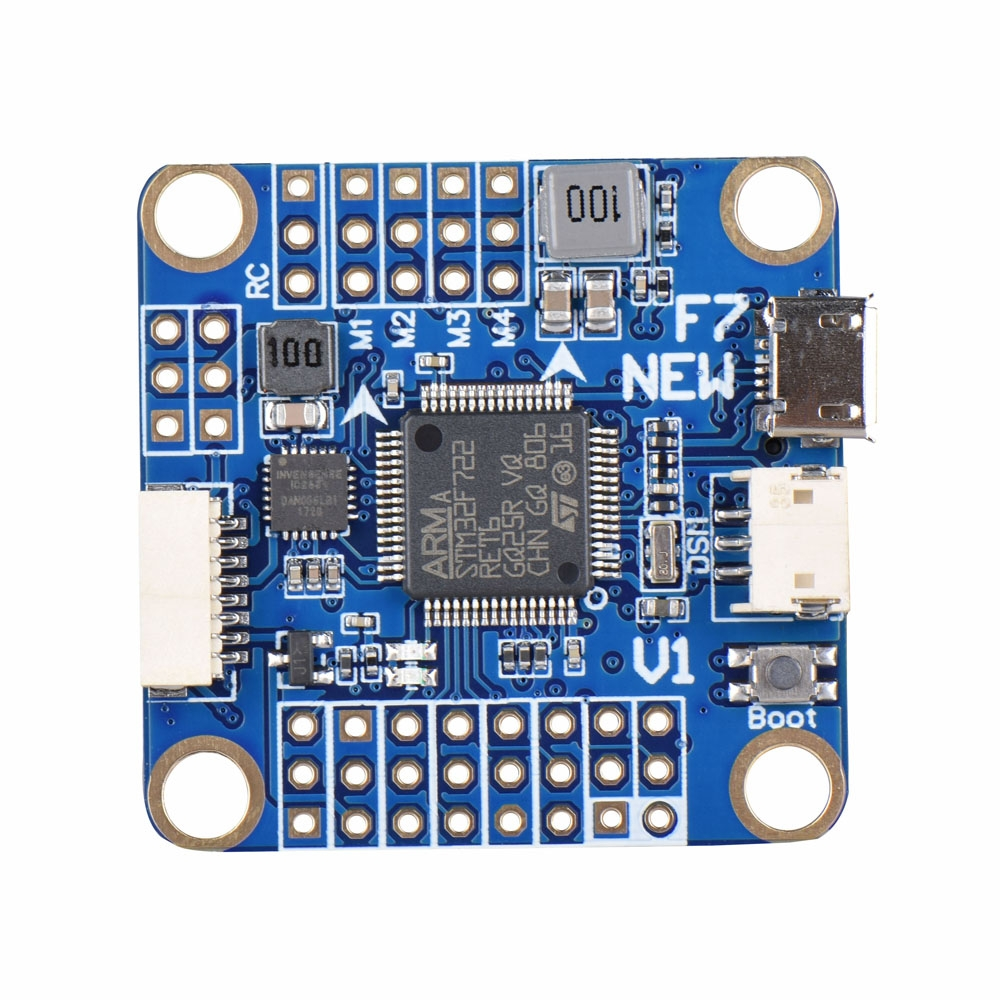 F7 V1 Flight Controller STM32F722 5V/3A BEC w/ OSD Barometer for FPV Racing Drone 30.5X30.5mm