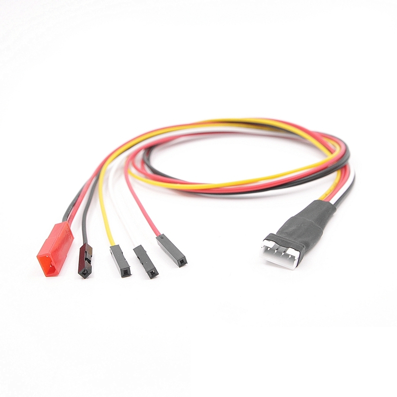Lawmate 50cm JST-PH 2.0mm Dupont 2.54mm 4P 1007#24 Silicone Cable Wire For FPV AV Transmitter