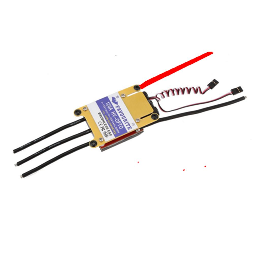 Favourite FVT HV-OPTO 120A 5-12S Brushless ESC USB Supported for RC