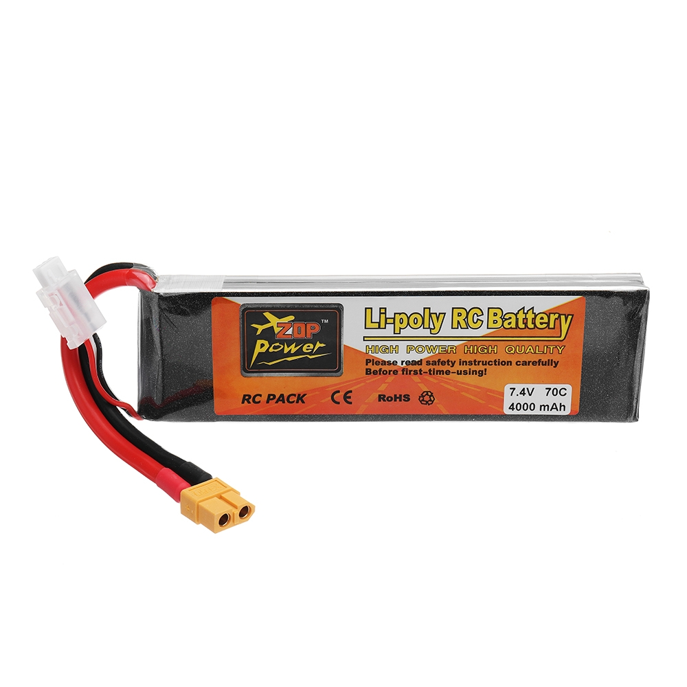 ZOP POWER 7.4V 4000mAh 70C 2S Lipo Battery With XT60 Plug For RC Model