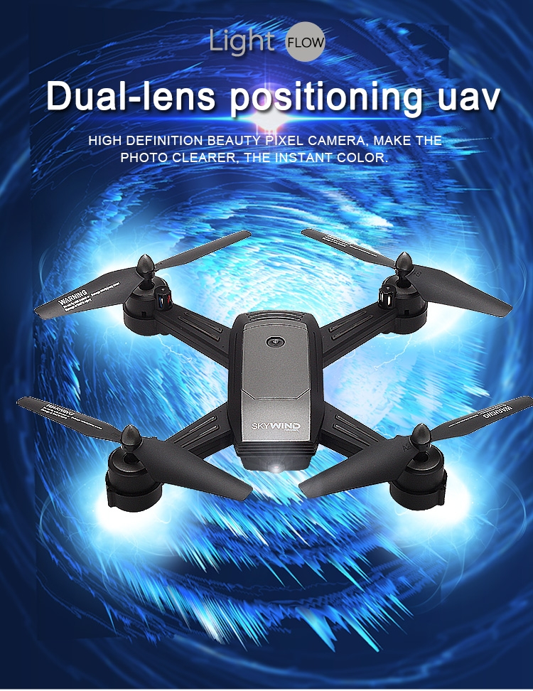 SKYWIND LH-X34F Optical Flow Dual Lens 720P/480P Camera WiFi FPV RC Drone Quadcopter RTF