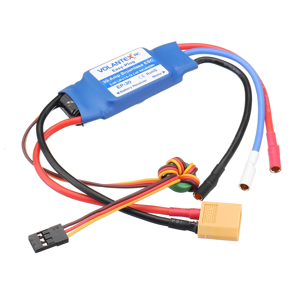 Volantex Easy-Plug 30A 2-4S Brushless ESC With XT60 Plug For 742-5 Phoenix Evolution RC Airplane
