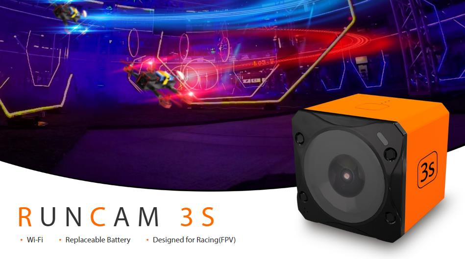 Runcam 3S WIFI 1080p 60fps WDR 160 Degree FPV Action Camera Detachable Battery for RC Racing Drone