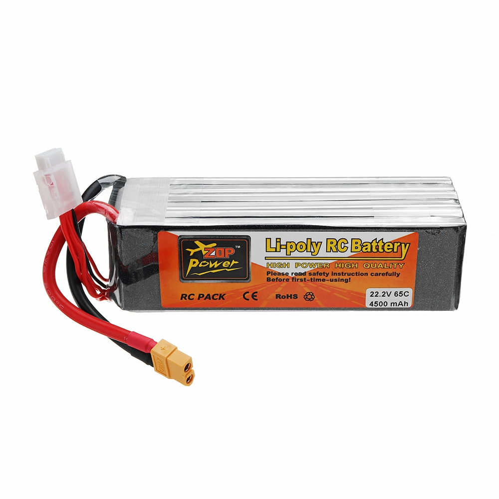 ZOP POWER 22.2V 4500mAh 65C 6S Lipo Battery With XT60 Plug
