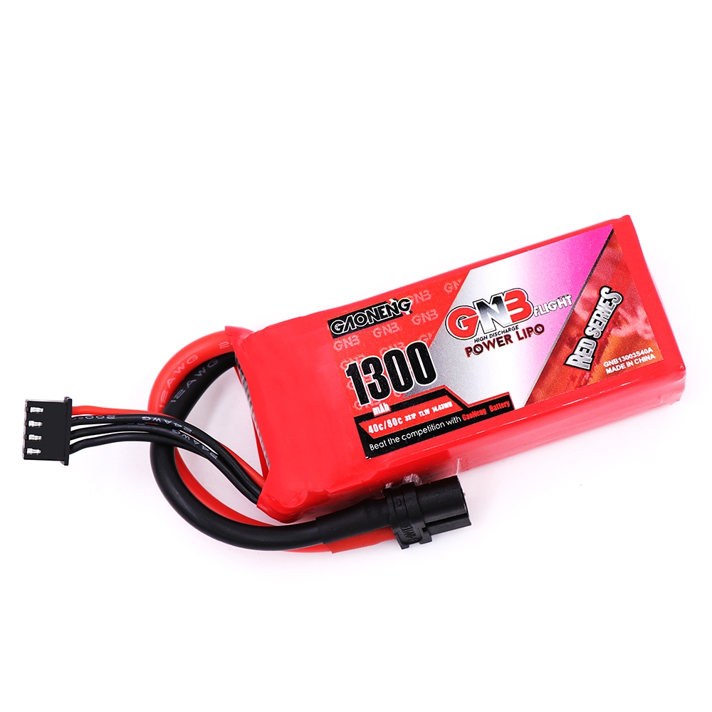 Gaoneng GNB 11.1V 1300mAh 3S 40C XT60 Plug Lipo Battery for FPV RC Drone