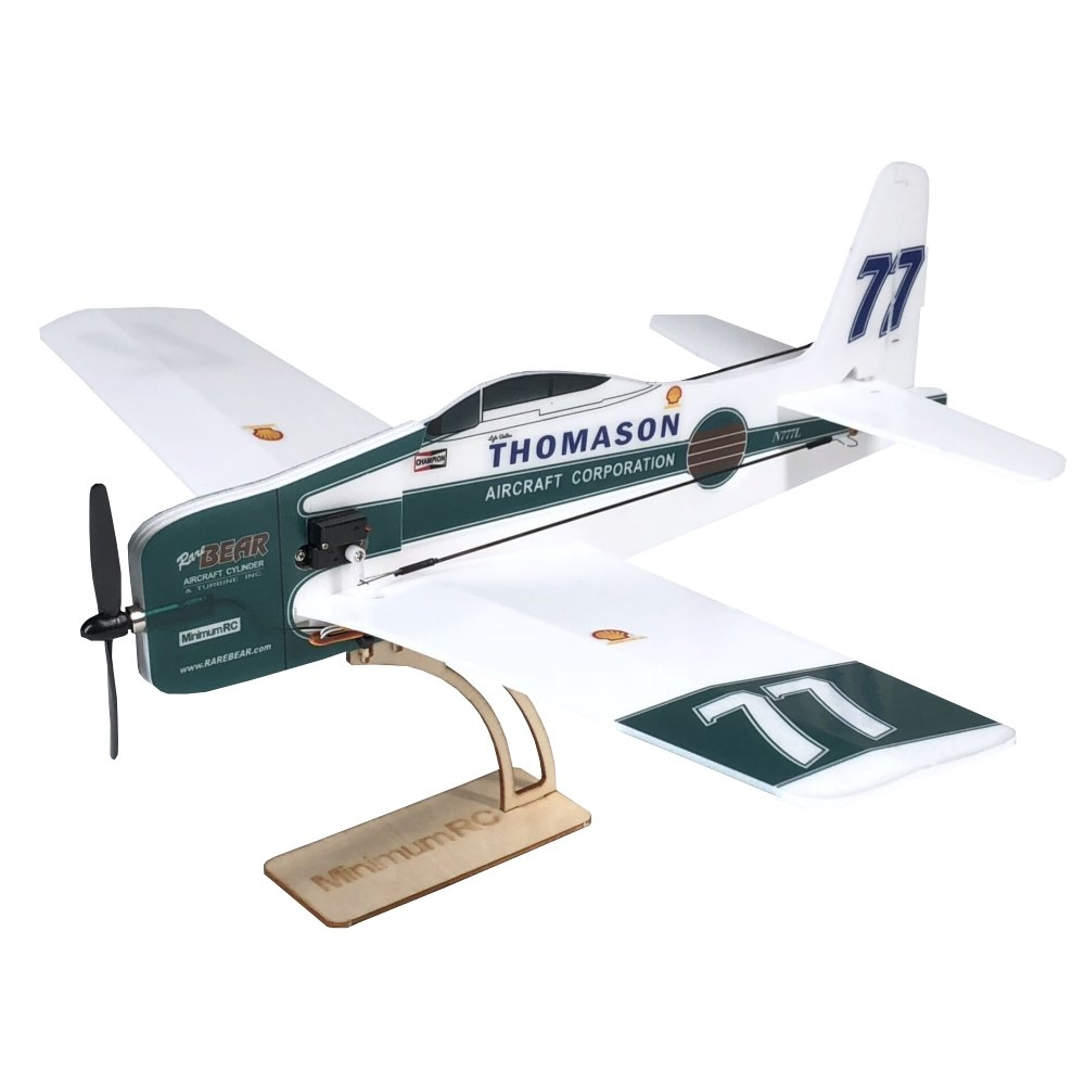 MinimumRC F8F Rare Bear 360mm Wingspan KT Board Mini RC Airplane KIT With 720 Coreless Motor