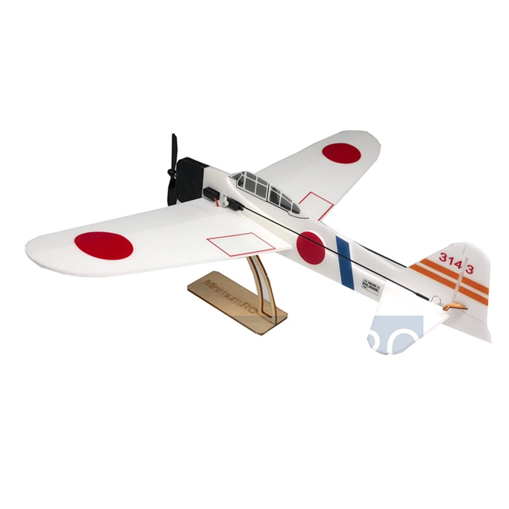 MinimumRC A6M2 Zero Backyard Fighter Series 240mm Wingspan Warbird RC Airplane KIT+Motor/PNP
