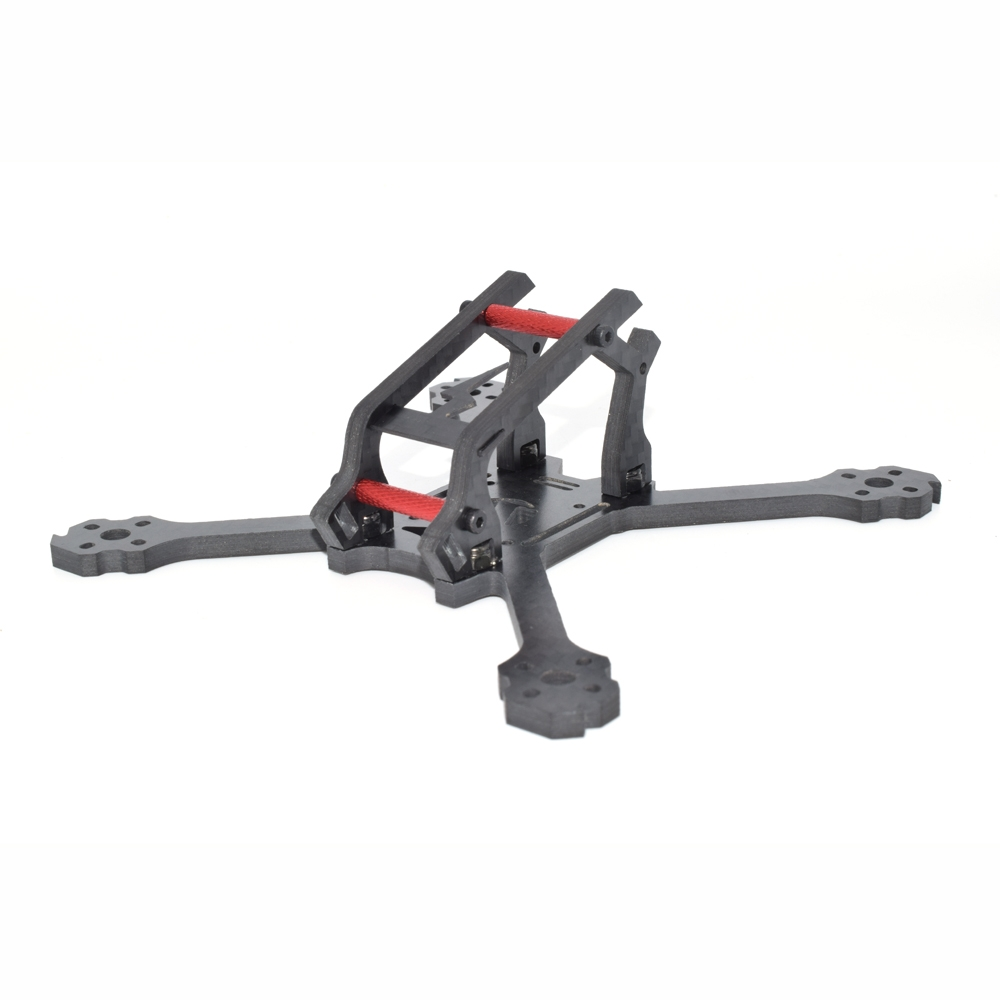 Aurora RC LIGHTNING 130mm Wheelbase 4mm Arm Carbon Fiber FPV Racing Frame Kit 30g