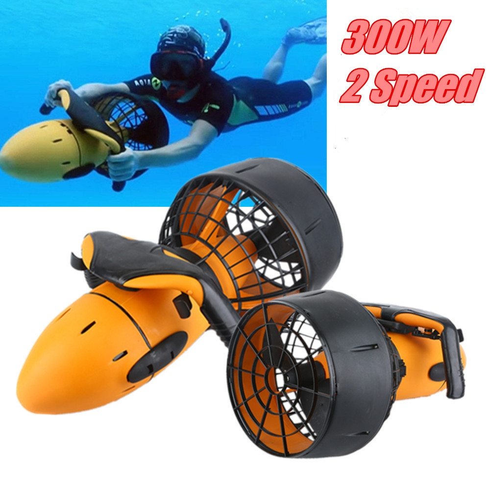 14% OFF for Waterproof Electric 300W Underwater Sea Scooter Dual Speed ​Propeller Drving Pool