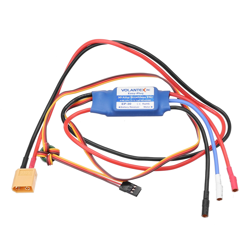 Volantex 742-5 Phoenix Evolution Glider RC Airplane Spare Part Easy-Plug 30A Brushless ESC