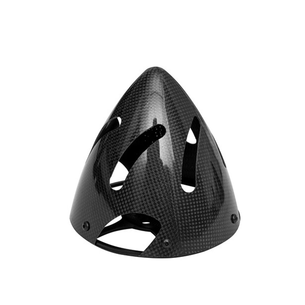 Gemfan Carbon Fiber Hollow Aluminum Base Three-leaf Cowling Fairing 82mm for RC Airplane
