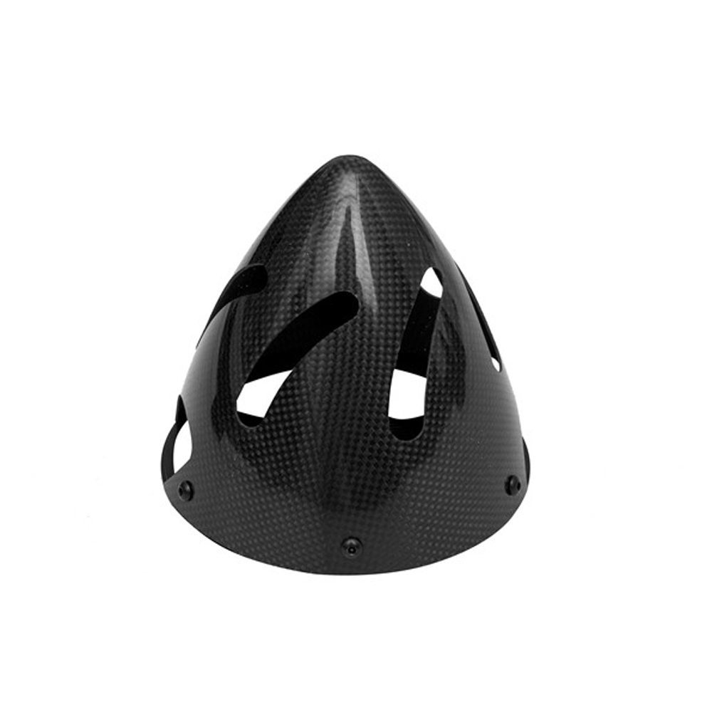 Gemfan Carbon Fiber Hollow Aluminum Base Two-leaf Cowling Fairing 82mm for RC Airplane