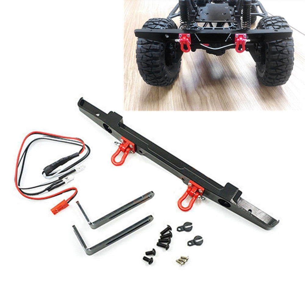 Aluminum Alloy Rear Bumper White LED Cable Kits for Axial SCX10/II MST CFX TRX-4 Rc Car Parts