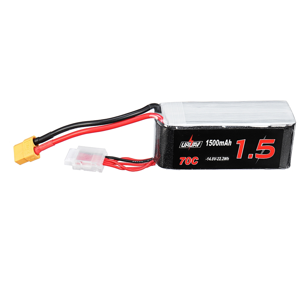 URUAV 14.8V 1500mAh 70C 4S Lipo Battery XT60 Plug for Eachine Wizard X220S FPV Racer RC Drone