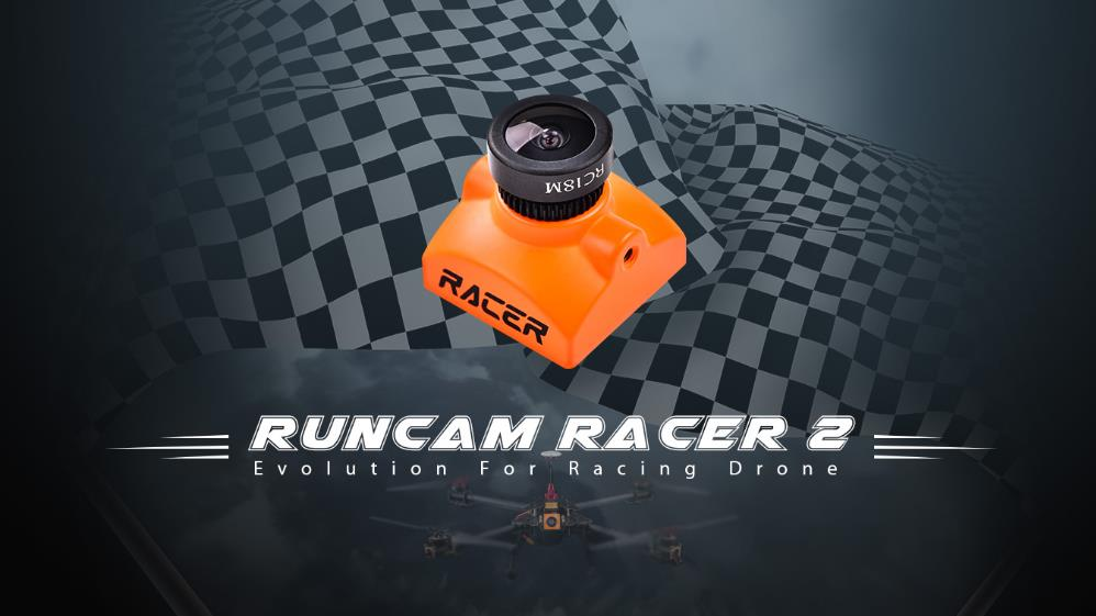 RunCam Racer 2 Super WDR CMOS 700TVL 1.8mm/2.1mm FPV Camera 6ms Low Latency Joystick or UART Control