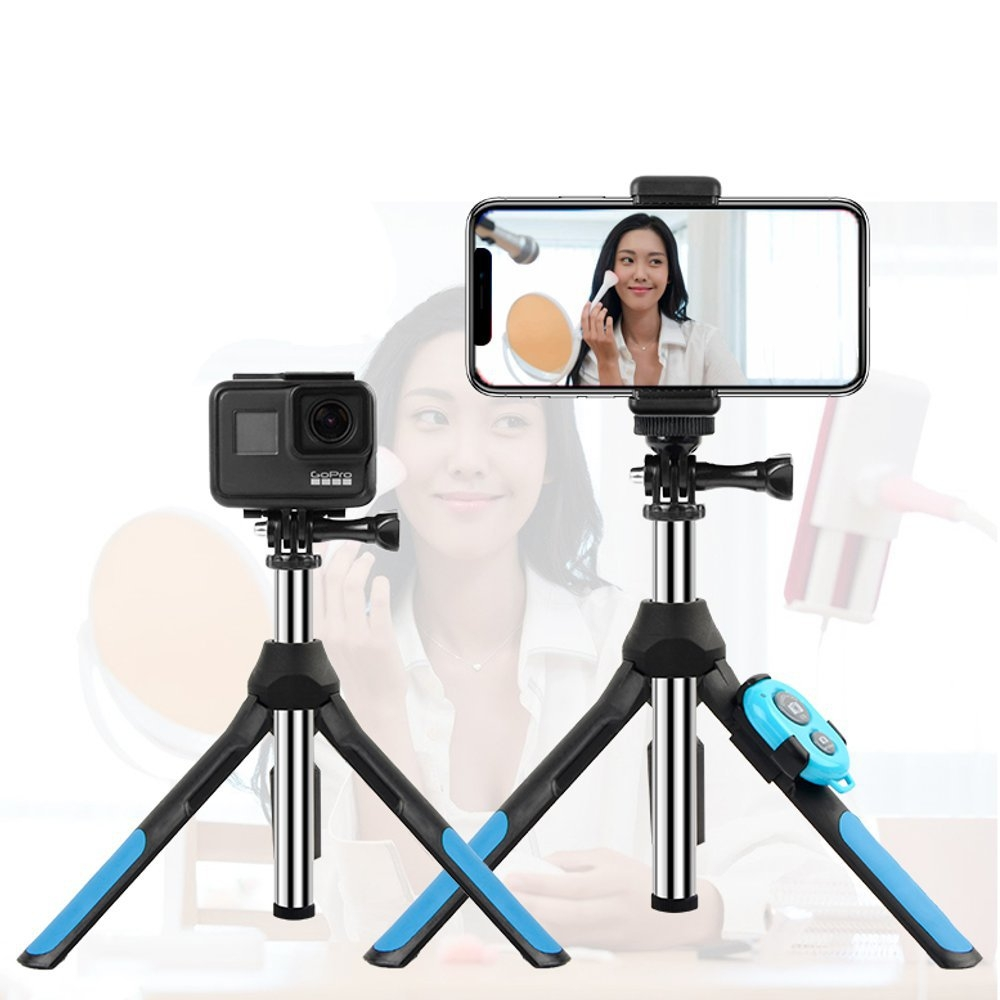 RUIGPRO 2 in 1 Bluetooth Extendable Folding Tripod Selfie Stick For Gopro Action Camera Mobile Phone