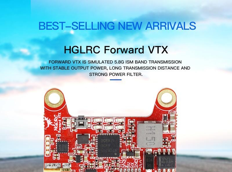 HGLRC Forward VTX 5.8G 48CH 25/50/100/200/400MW Switchable FPV Transmitter For Racing RC Drone