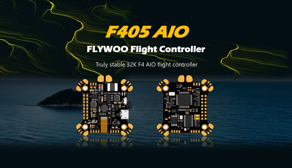 FLYWOO F405 AIO Flight Controller ICM20689 Built In OSD 5V 9V 2A BEC 3-8S For FPV Racing RC Drone