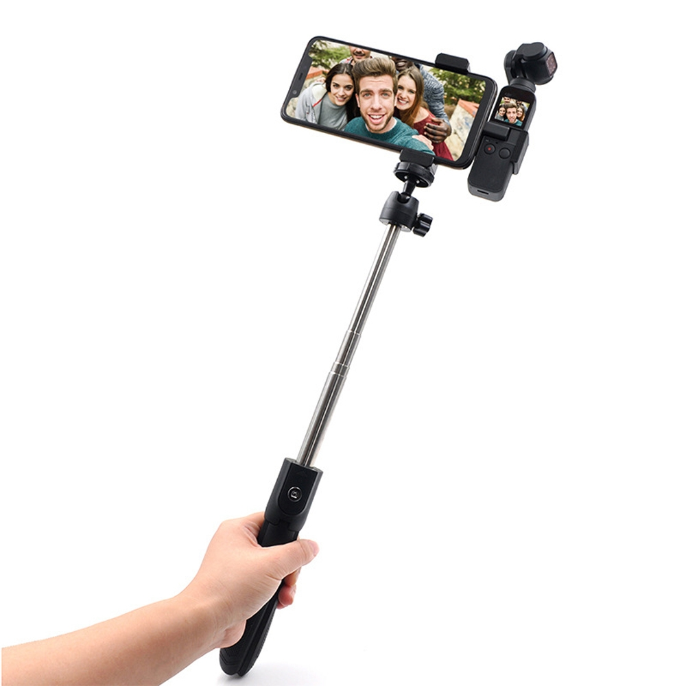 STARTRC Gimbal Expansion Bracket and Aluminum Alloy Mobile Phone Clip and Tripod Selfie Stick Set For DJI OSMO Pocket Gimbal