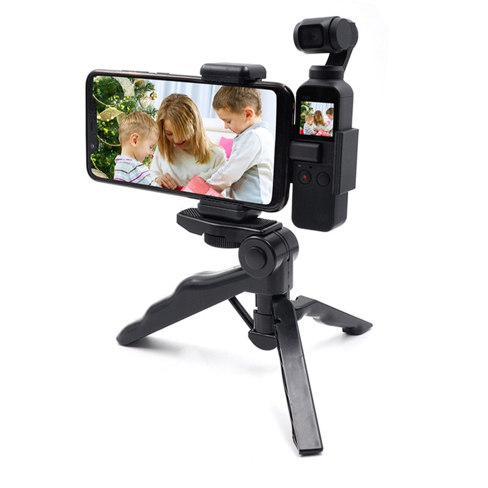 STARTRC Gimbal Expansion Bracket and ABS Mobile Phone Clip and Tripod Selfie Stick Set For DJI OSMO Pocket Gimbal