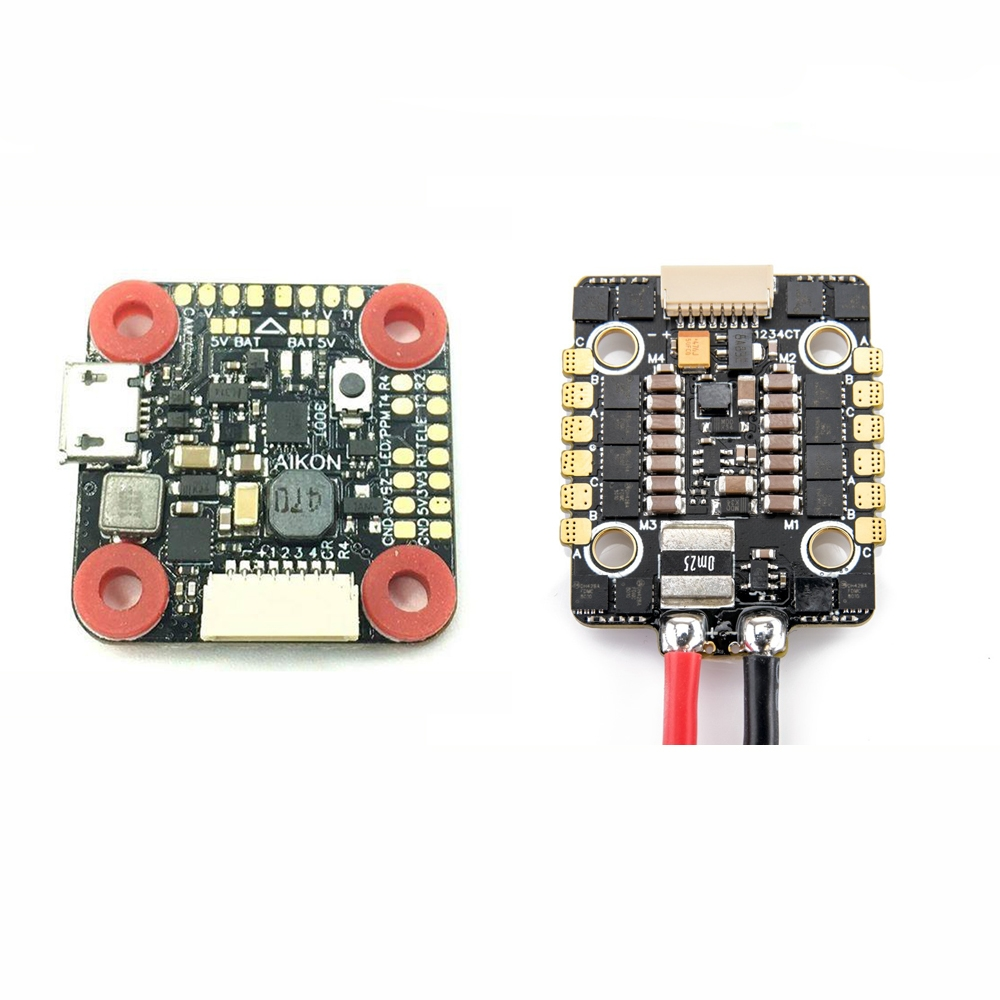 AIKON AK32 Flytower MINI STM32F405 Flight Controller & 35A Blheli_32 2-6S Brushless ESC Combo 20x20mm for RC Drone