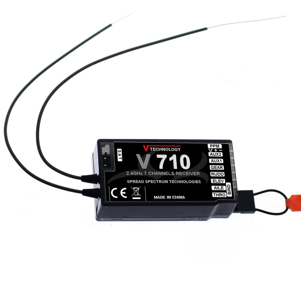 V710 2.4G 7CH Receiver for Spektrum Storm G152 DSMX DSM2 RC Drone FPV Racing Multi Rotor