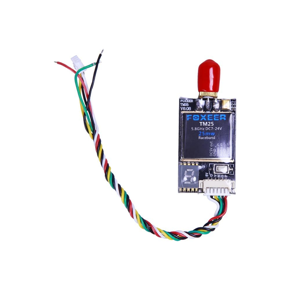 Foxeer TM25 Mini 5.8G 25mW VTX FPV Transmitter SMA RP-SMA for RC Drone