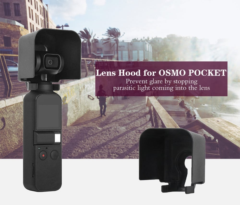 Lens Hood Camera Glare Shield Shade Protective Cover for DJI Osmo Pocket