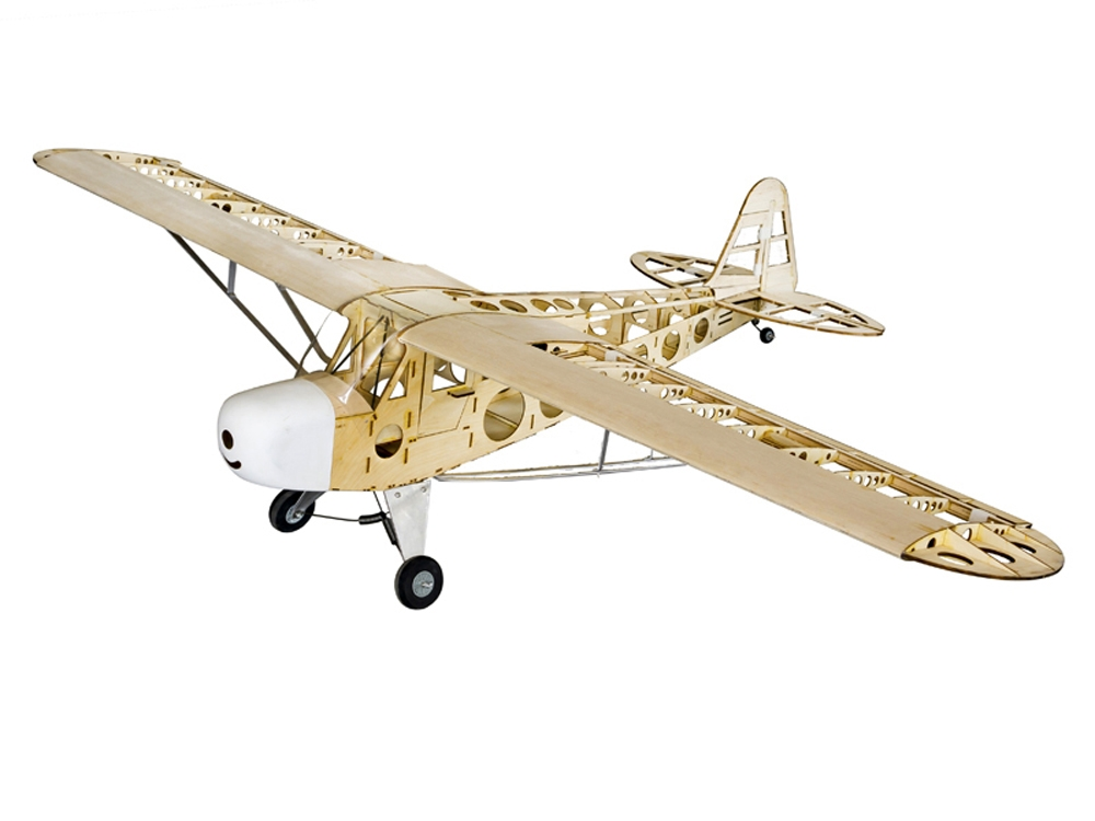 Dancing Wings Hobby Piper J3 Cub 1800mm Wingspan Balsa Wood Laser Cut RC Airplane With Motor