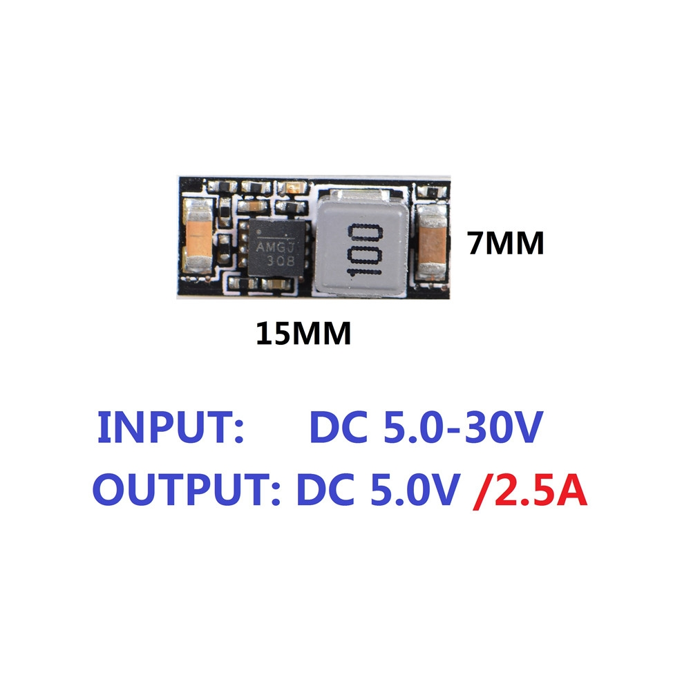 JHEMCU MINI DC-DC BEC 2-6S 5V/ 2.5A Step Down Module for RC Drone FPV Racing