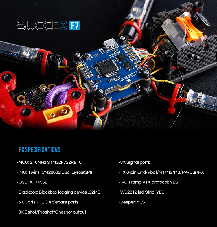 iFlight 30.5x30.5mm Flytower SucceX F7 TwinG Plus F7 OSD Flight Controller & 50A BL_32 4in1 ESC for RC Drone