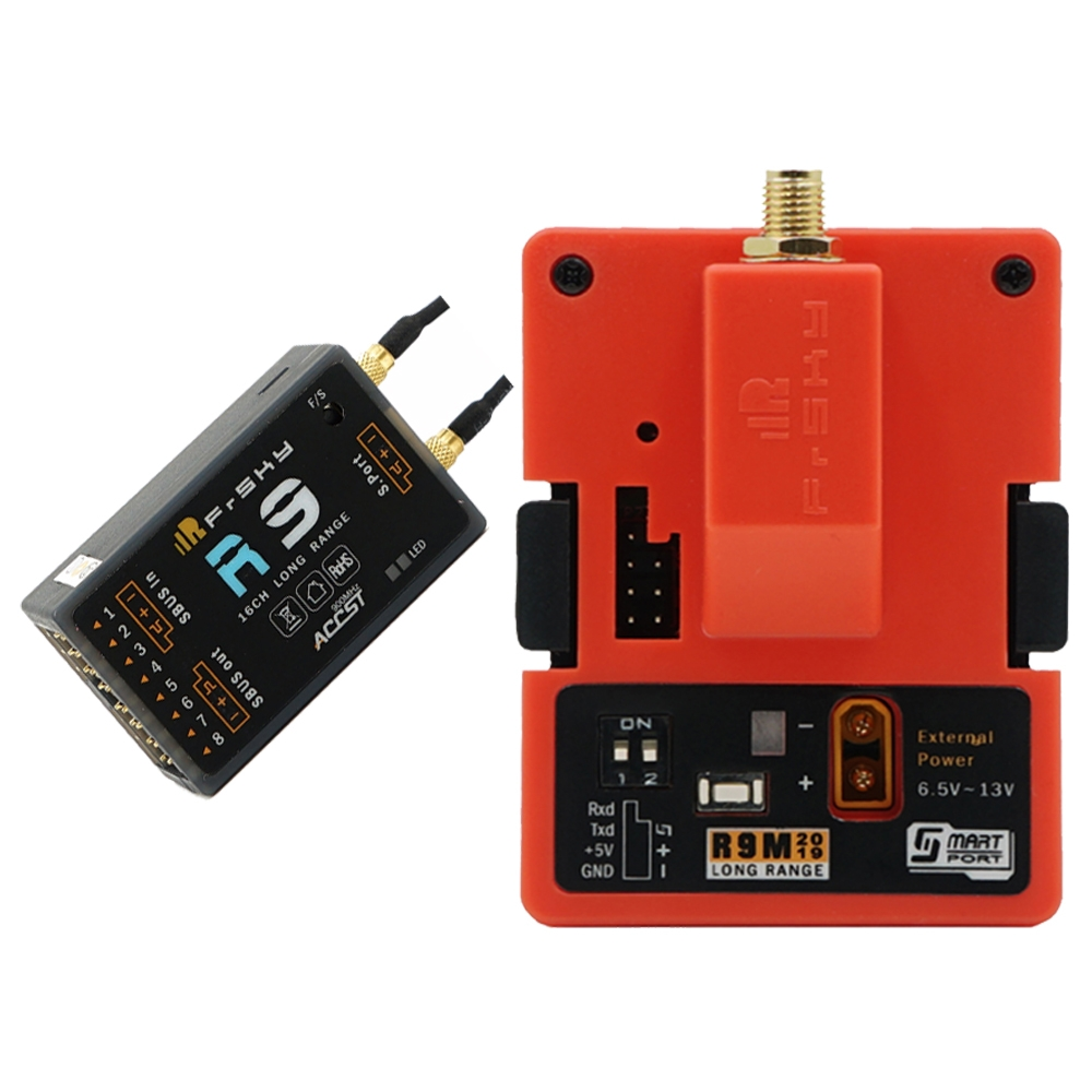 $83.99 for FrSky R9M 2019 Transmitter Module & R9 900MHz 16CH Long Range Receiver with mounted Super 8 and T antenna