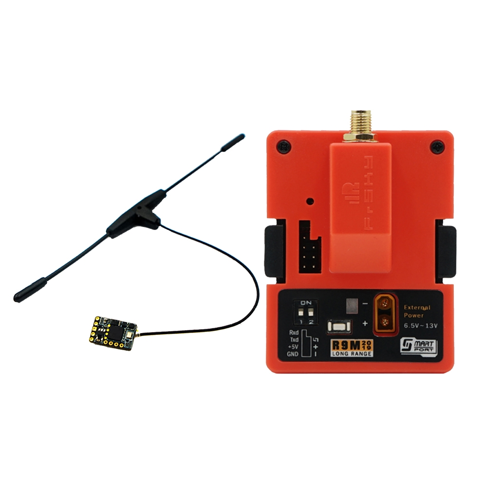 FrSky R9M 2019 900MHz Long Range Transmitter Module & R9 Mini Receiver with R9 Mini T Antenna Combo
