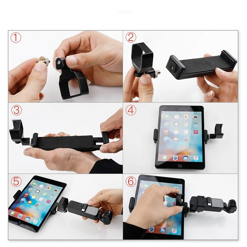 RCGEEK Phone Tablet Monitor Clamp Adapter Mount Bracket for OSMO POCKET Handheld Gimbal