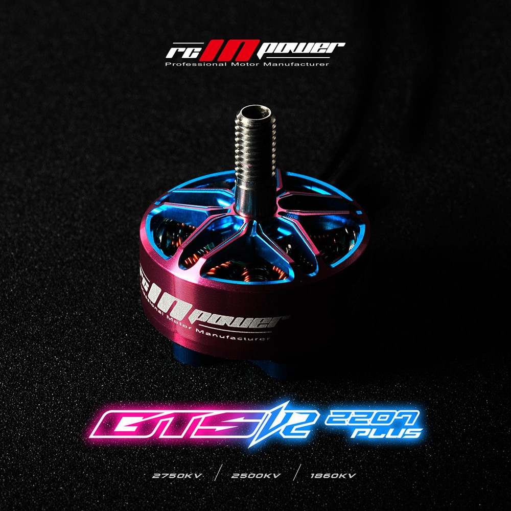 RCINPOWER GTS-V2 2207Plus 2207 2500KV 4-5S Brushless Motor for RC Drone FPV Racing