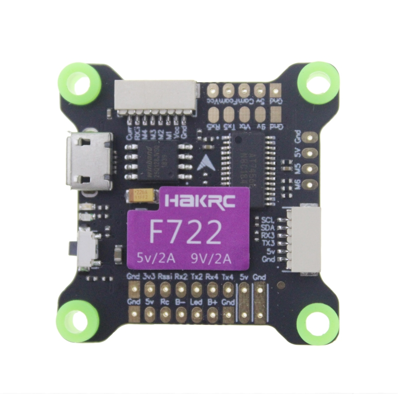 HAKRC F722 Flight Controller OSD BEC 5V/2A 9V/2A 3-9S MPU6000 for RC Drone FPV Racing