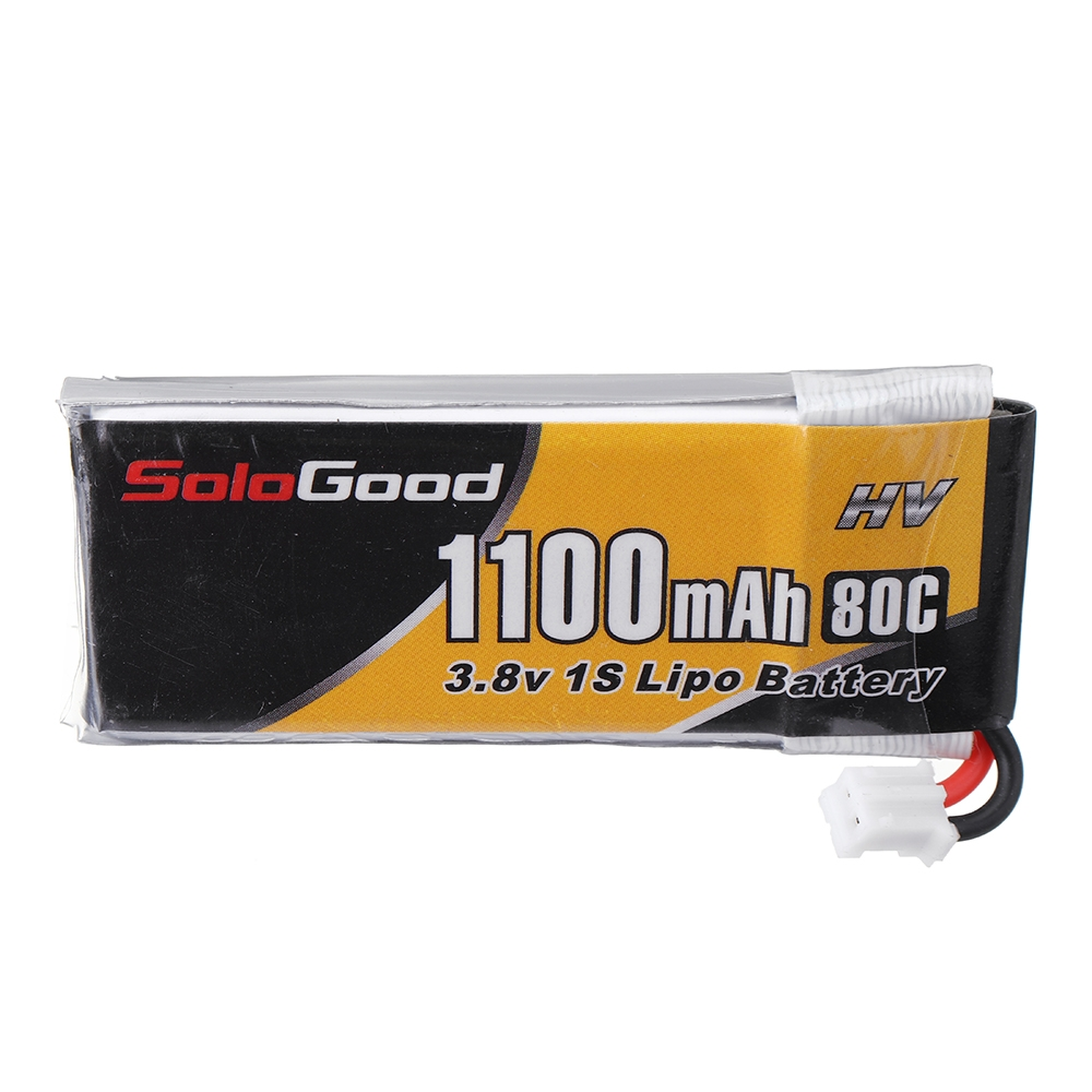 Soldgood 3.8V 1100mAh 80C 1S HV Lipo Battery PH2.0 Plug for Indoor Racing Drone Toy