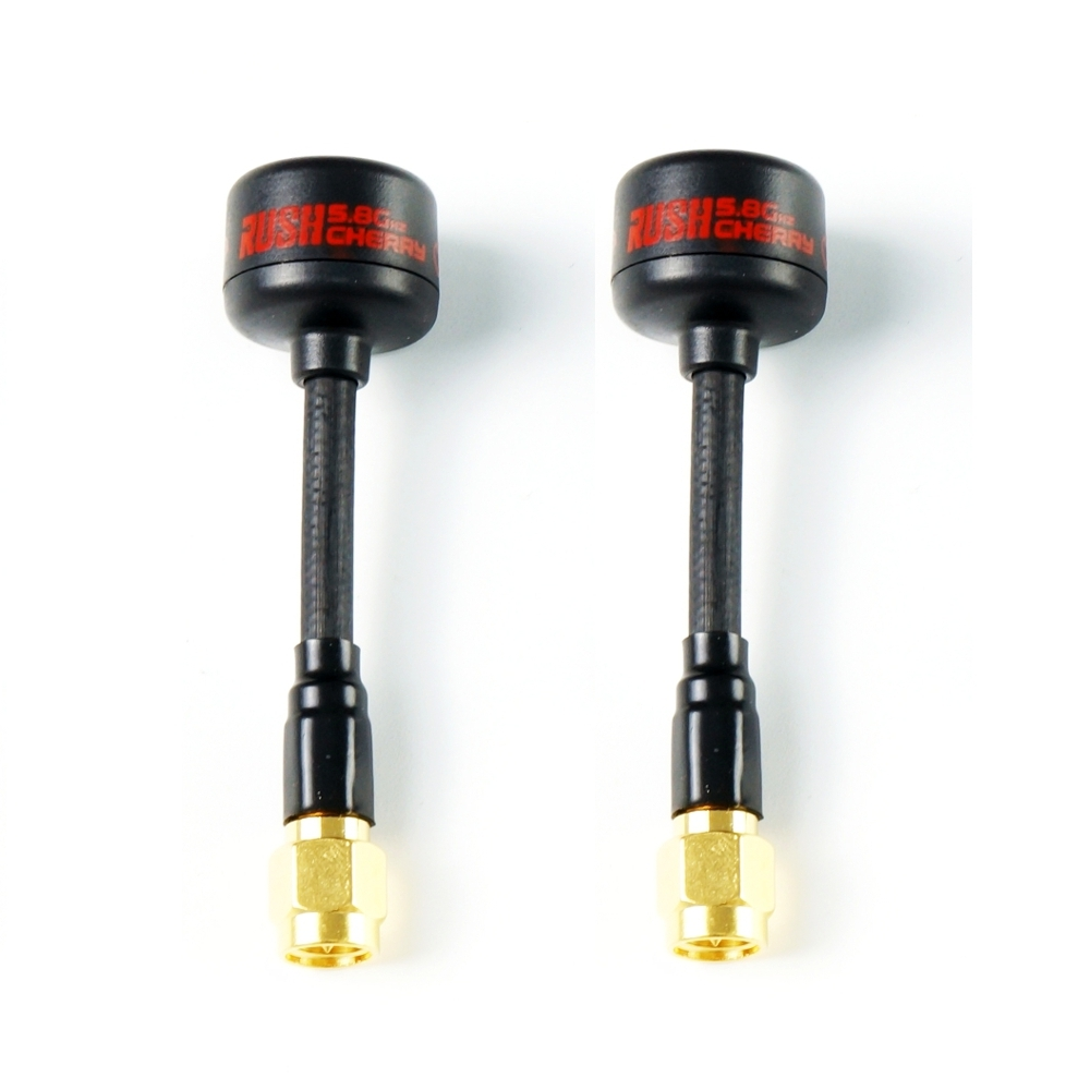 A Pair Rush Cherry RHCP SMA 1.2dBi 5.8Ghz FPV Racing Antenna for RC Drone