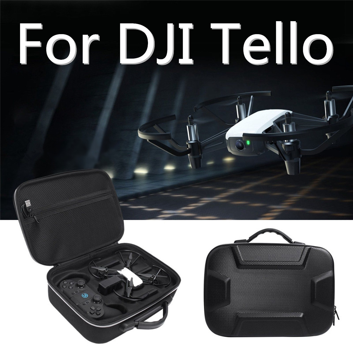 Multifunctional Storage Case Carrying Bag For DJI Tello Drone & GameSir T1d Remote Controller