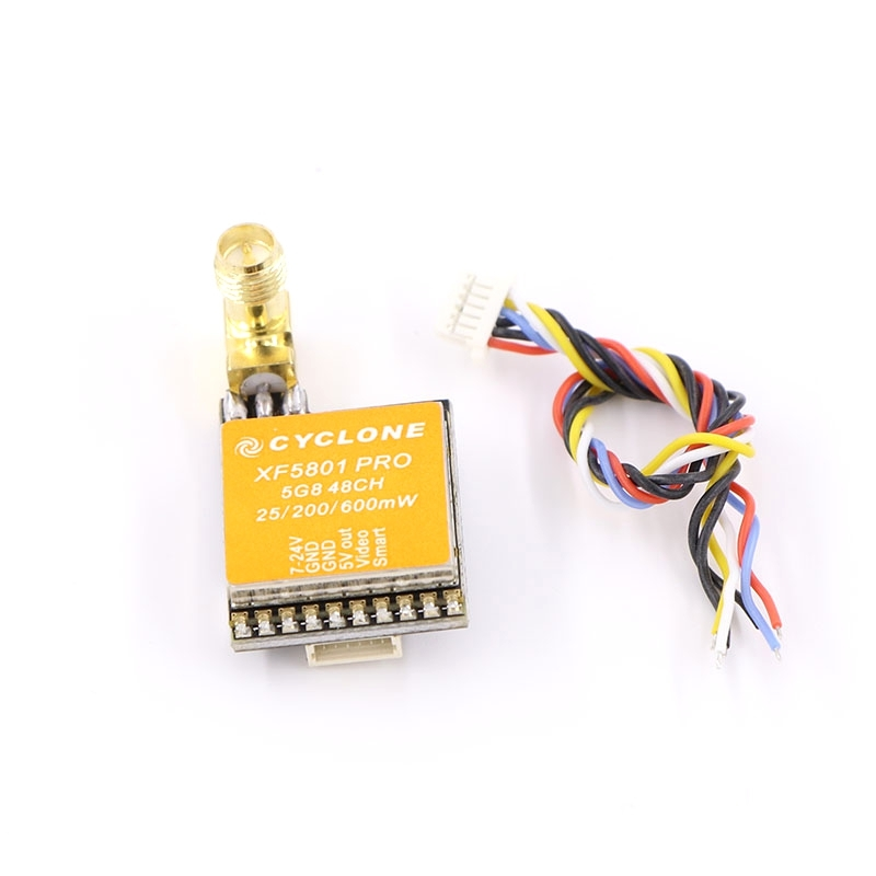 XF5801 Pro 25mW/200mW/600mW 5.8Ghz 48CH FPV Transmitter 2KM RP-SMA Support Smart Audio Pitmode for FPV Racing Drone