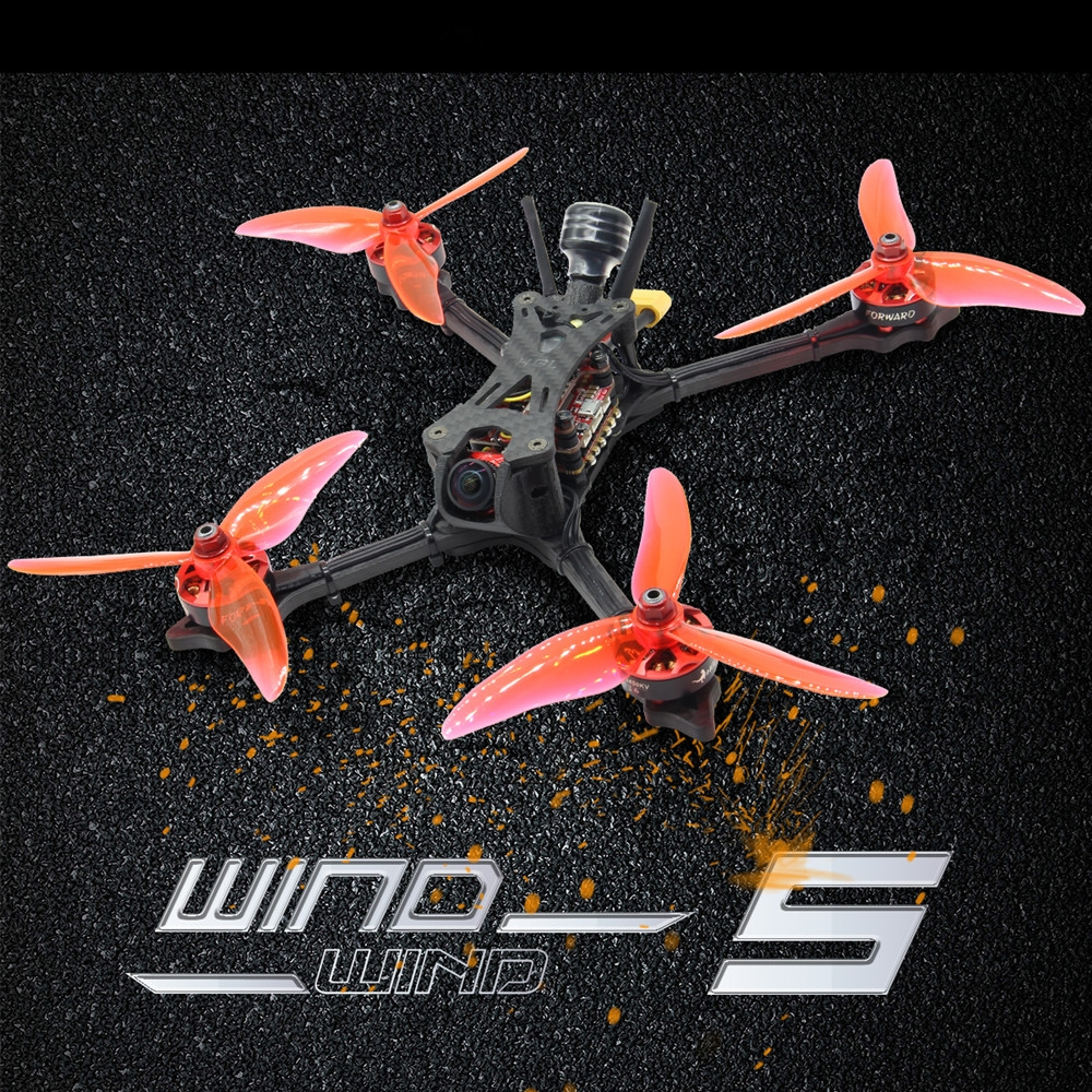 HGLRC Wind5 233mm F7 OSD FD2306 2450KV 4S 5 Inch FPV Racing Drone PNP BNF w/ Caddx Ratel Camera