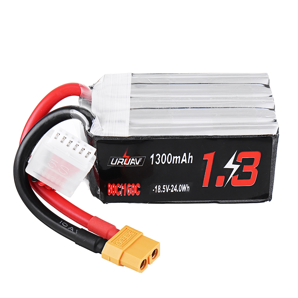 URUAV 18.5V 1300mAh 80C/160C 5S XT60 Plug Lipo Battery for FPV RC Drone