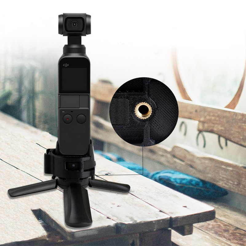OSMO Pocket Accessories WiFi Fixed Mount Base Adpater with 1/4 inch Mounting Hole For Gimbal Expansion Bracket Tripod