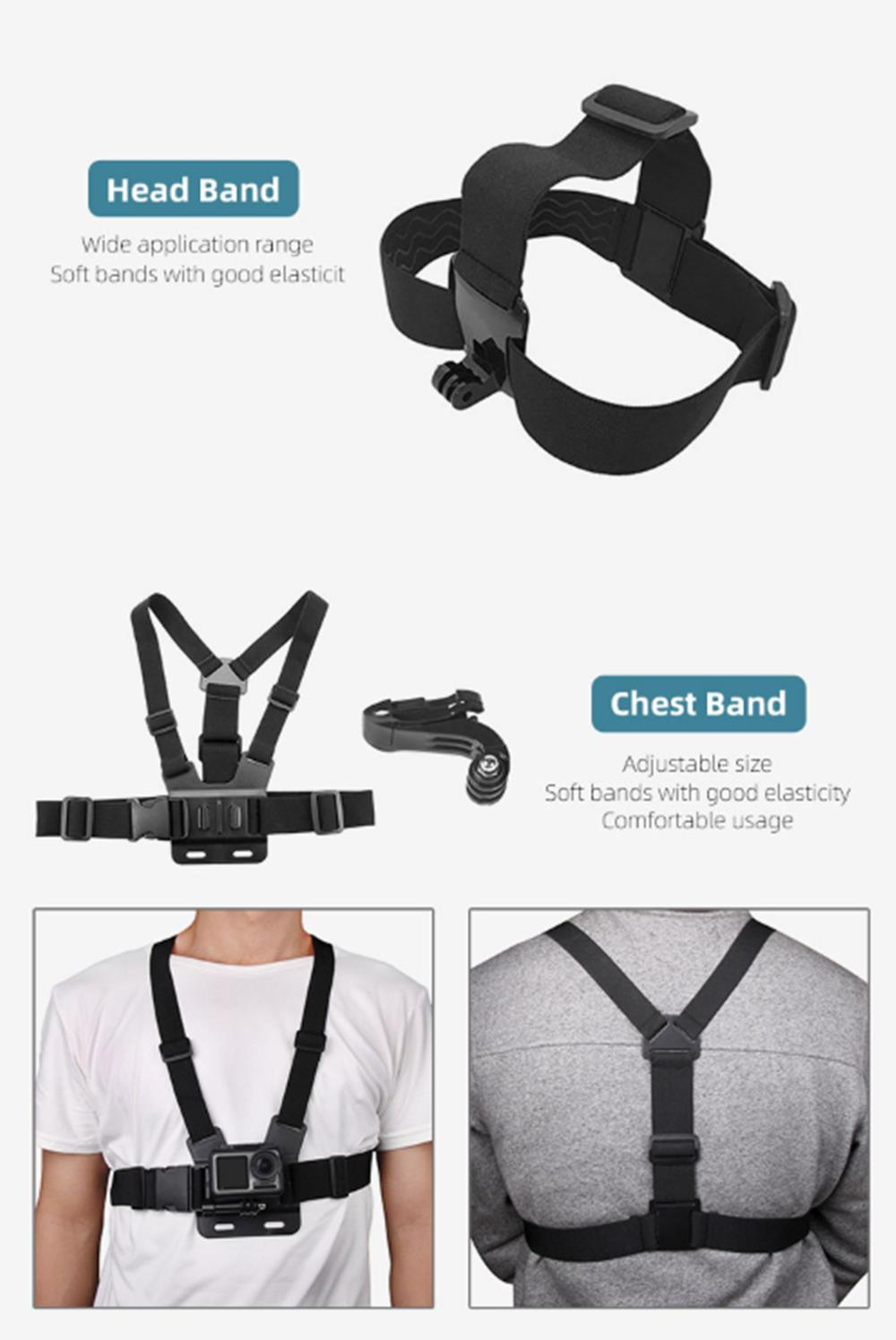 Sunnylife Chest Strap Band With 1/4 Adapter for DJI OSMO ACTION Sport Camera Spare Part