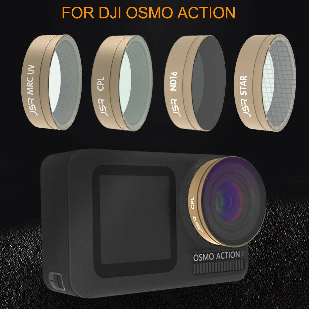 Optical Glass Lens Filter UV CPL ND STAR Kit for DJI OSMO ACTION Sports Camera